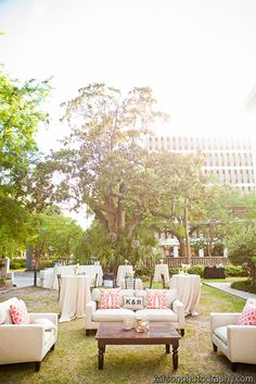 Outdoor lounge area // Tiger Lily Weddings - Kristen & Ryan