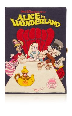 Classic Alice in Wonderland Book Clutch by Olympia Le-Tan for Preorder on Moda Operandi