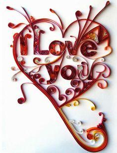 heart paper art