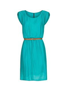 MANGO - Pleated dress with belt - EUR 34,99