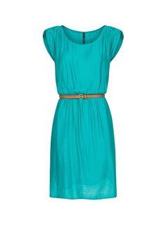 MANGO - Pleated dress with belt