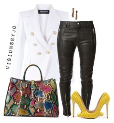 """""""Untitled #1468"""" by visionsbyjo on Polyvore featuring Balmain, Diesel Black Gold, Gucci, Posh Girl, Lanvin, women's clothing, women, female, woman and misses"""
