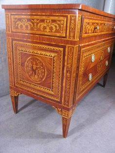 klasszicista bútor, intarziás komód Palace, Fill, Dresser, Antiques, Vintage, Furniture, Home Decor, Homemade Home Decor, Lowboy