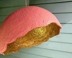 les 24 meilleures images du tableau papier mache lampshade. Black Bedroom Furniture Sets. Home Design Ideas
