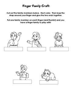 family finger puppets | Finger Family