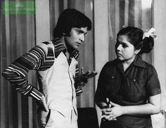 Versatile Moin Akhter with Shahnaz Sheikh - Pakistani television, film and stage actor, as well as a humorist, comedian, impersonator, and a host. He was also a play writer, singer, film director and a producer.