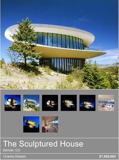 """Denver---it may be officially known as the """"Sculptured House"""" but every kid I knew growing up called it """"The Spaceship House""""! Denver Colorado, Colorado Homes, Glass Building, Travel Alone, Wonderful Places, Amazing, Scenery, Around The Worlds, Vacation"""