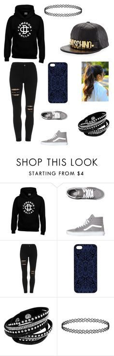 """""""Cameron Dallas Girlfriend's Style"""" by directioners269 ❤ liked on Polyvore featuring Vans, Samantha Warren London and Moschino"""
