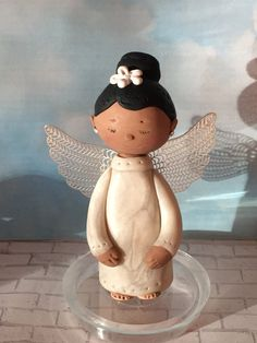 Black Angel,Custom Angel ornament,polymer clay ornaments,African American Angel,handmade clay Angel by NaomisSweetStuff on Etsy