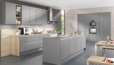 Lino Kitchen - Laser edge, Mineral Grey Matt Handle-less front