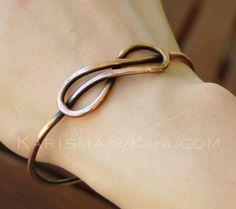 Infinity nodo bracciale rame ossidato di Karismabykarajewelry