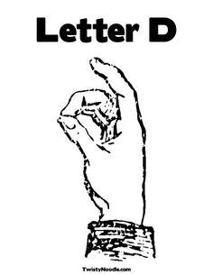 Letter D Sign