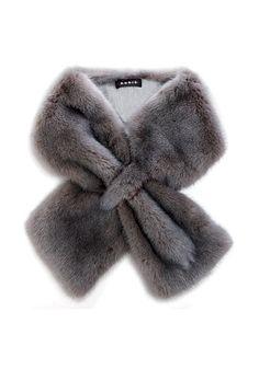 Akris gray long-hair mink collar; $1,580. (akris.ch)