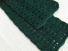 Green crochet scarf neckwarmer scarflette by ScarfShack on Etsy, $20.00