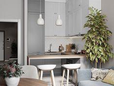Кухня-гостиная 15 кв.м. в Москве. 👌