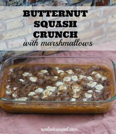 A delicious side dish this butternut squash recipe with marshmallows counts as  4 WW Points+