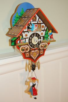 I had this cool cuckoo clock as a child...my grandma bought it for me