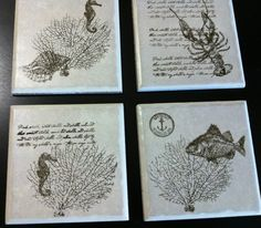 By the Tide (tile coasters)