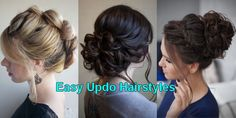 Easy Updo Hairstyles for Medium Length Hair in 2018 ; Women have a plethora of hairdos and styles to choose from - it's practically endless! Tips For Dry Hair, Beauty Tips For Skin, Hair Care Tips, Beauty Hacks, Easy Updo Hairstyles, Updos, Curly Hair Care, Curly Hair Styles, Skin Care