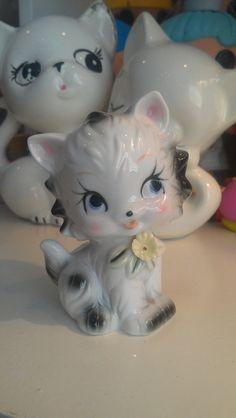 Cute Kitten Kitty Cat Figurine Sweet Glance Eye by MamaBirdsMarket, $7.50