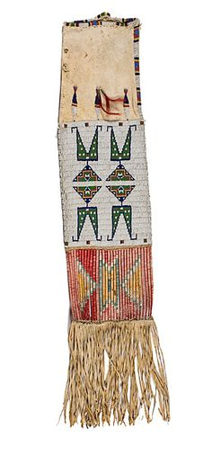 Sioux Beaded Hide Tobacco Bag (2010, American Indian & Western Art, March 26)