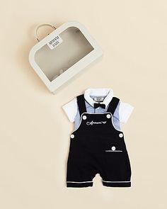 high end fashions for newborn boys   High-fashion baby. Armani Junior Infant Boys' 3 Piece Gift ...   Shel ...