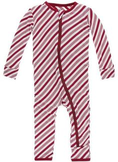 68663b388bcd KicKee Pants Crimson Candy Cane Stripe Coverall with Zipper