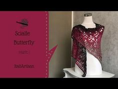 Red Cloud - Scialle Baktus - Tutorial Scialle Uncinetto - YouTube