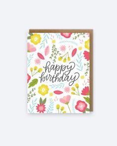 Tarjeta de cumpleaños floral - 448