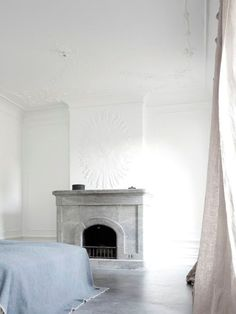 Mode & Maison: White walls and concrete floors Home Interior, Interior Architecture, Interior And Exterior, Interior Decorating, Interior Design, Decorating Ideas, Decor Ideas, Interior Modern, Interior Ideas