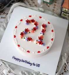# aesthetic – # aesthetic # anniversary cake – Recipes And Desserts Pretty Birthday Cakes, Pretty Cakes, Cute Cakes, Beautiful Cakes, Amazing Cakes, Sweet Cakes, Number Birthday Cakes, Happy Birthday, Charlotte Torte