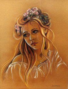 "Retrato en pastel de ""Vanesa"" de  Judith Grettell Figueroa"
