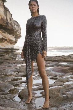 HUSK BACKLESS DRESS – W I N O N A Swing Tags, Skirt Fashion, Wrap Style, Dresses For Sale, Cover Up, Sequins, Slim, Long Sleeve, Backless