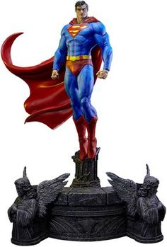 DC Comics Superman Sculpt Cape Edition Statue by Prime 1 Stu Batman Hush, Batman And Catwoman, Superman Cape, Superman Figure, Superman Artwork, Dc Comics, Marvel E Dc, Marvel Wolverine, Batman Collectibles