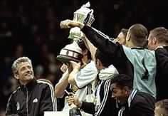 Kevin Keegan on day Fulham won Division 1 in 1999.