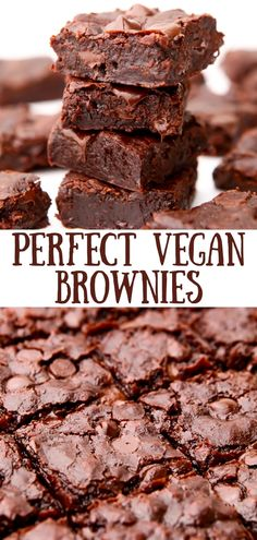 The absolute best fudgy vegan brownies ever! After years of testing vegan brownie recipes, this one is finally it! You just have to try it to believe it! Egg-free and easily made gluten-free too! thehiddenveggies.com