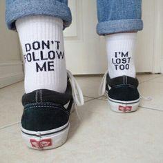 vans, socks, and lost image Cute Socks, My Socks, Happy Socks, Vans Socks, Funny Socks, Lost Socks, Awesome Socks, Style Tumblr, Look Fashion