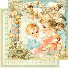 Graphic 45 - Little Darlings Deluxe Collector's Edition (Vintage, Baby) – Oh My Scrap! My Funny Valentine, Valentine Wishes, Valentine Images, Vintage Valentine Cards, Vintage Greeting Cards, Vintage Ephemera, Vintage Paper, Vintage Postcards, Vintage Suitcases