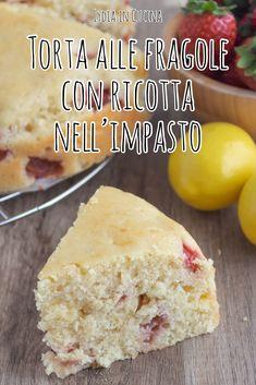 Ricotta, Italian Cake, Healthy Cake, Cornbread, Good Food, Food And Drink, Anna, Gluten Free, Sweets