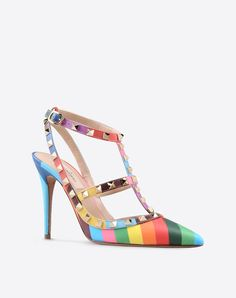Valentino Online Boutique - Valentino Women Rockstud 1973 Ankle Strap