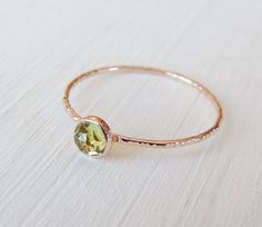 Hey, I found this really awesome Etsy listing at https://www.etsy.com/listing/197318892/peridot-ring-14k-gold-ring-rose-gold
