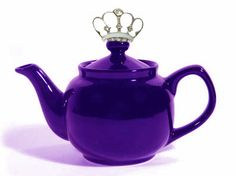purple teapot with a crown