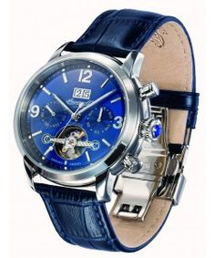 INGERSOLL Belle Star Automatic Blue Leather Strap (IN1826BL) Ingersoll Watches, Stars, Leather, Sterne, Star