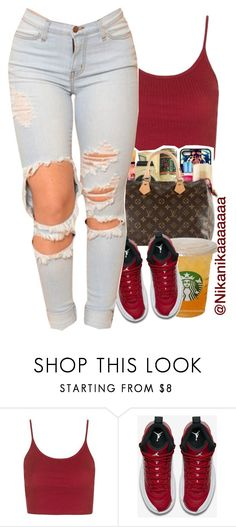 """"""""""" by liveitup-167 ❤ liked on Polyvore featuring Topshop and NIKE"""