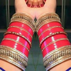 Wedding Chura, Wedding Wear, Wedding Attire, Indian Bridal Outfits, Indian Bridal Makeup, Indian Accessories, Bridal Accessories, Bridal Bangles, Wedding Jewelry