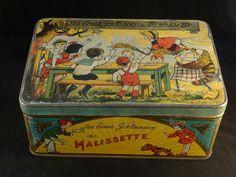 Boîte EN FER LES Bons Gâteaux DE Malissette LA Ruche Moderne Chaperon Rouge 1940 | eBay