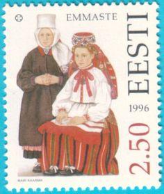 All* Estonian stamps: Hiiumaa folk costumes - Emmaste