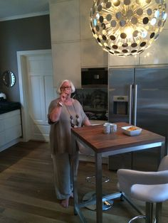 A glass of wine in my new kitchen (mother)!