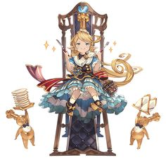 View an image titled 'Event Charlotta Art' in our Granblue Fantasy art gallery featuring official character designs, concept art, and promo pictures. Female Character Design, Character Design Inspiration, Character Concept, Character Art, Concept Art, Fantasy Characters, Anime Characters, Fantasy Kunst, Animated Cartoons