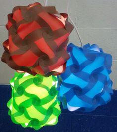 Medium Puzzle Lamps $35